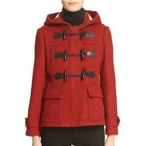 Burberry Short Blackwell Wool Duffle Coat
